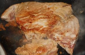 lightly grilled tuna